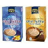 Krüger Chai Latte Classic Sweet Set, mildes Milchtee Getränk, Schoko und Vanille Zimt