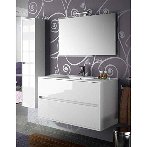 Salgar noja 800 - Mueble noja 800/blanco +lavabo porcelana