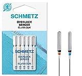 SCHMETZ Nähmaschinennadel-Set aus 5 Overlock-Nadeln 2 x 80/12 und 3 x 90/14