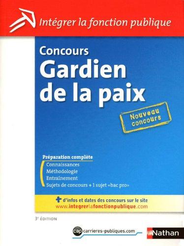 CONCOURS GARDIEN DE LA PAIX