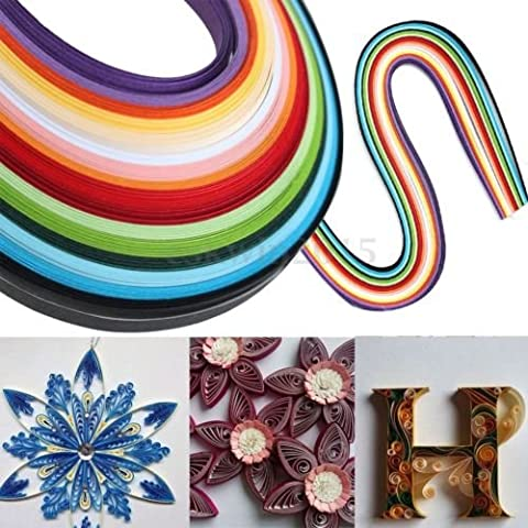 160 Stripes Mixed 16 Color Quilling Paper Papercraft Origami DIY Craft 5x530mm (Stripe Accent Pillow)