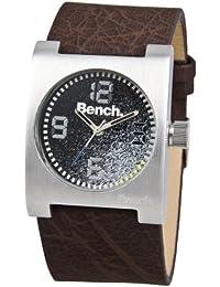 Bench BC0304BKBR - Reloj analógico de caballero de cuarzo con correa marrón