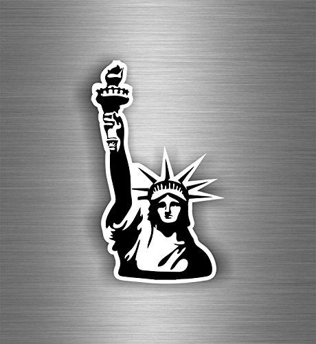 Preisvergleich Produktbild Aufkleber/Sticker Dekoration, Wandtattoo, Zimmer, MacBook, Freiheitsstatue New York