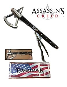 "17.5"" Battle Axe of Assassins Creed 3 Video Game Tomahawk Connors Heavy Axe"