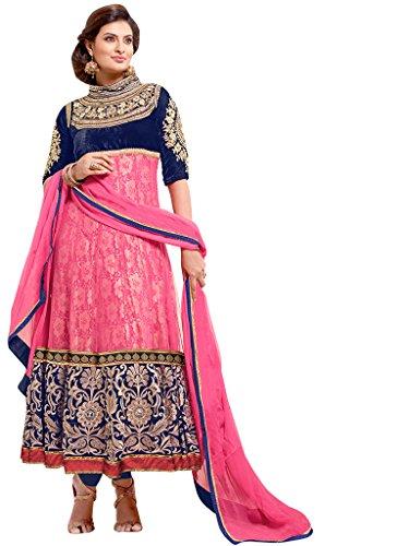 Vibes Pure Georgettea-Line Un-Stitched Salwar Kameez (V73-8002_Pink)