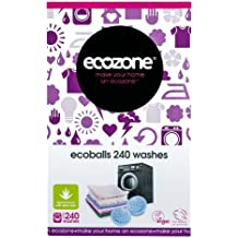 Ecozone Ecoballs 240 wash balls - Replaces Laundry detergents - new easy to refill softer design