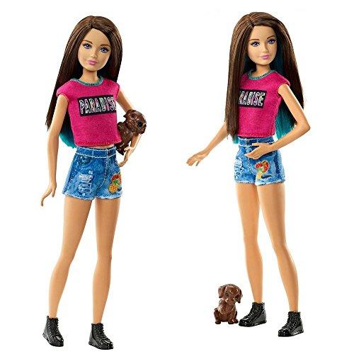 Barbie - Familia Muñeca Skipper con Perro - Barbie & Her Sisters in a Puppy Chase