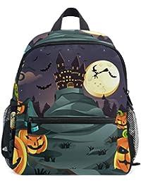 Preisvergleich für COOSUN Halloween Kürbisse Hintergrund Mini Kinderrucksack Pre-School Kindergarten Kleinkind-Tasche Mehrfarbig