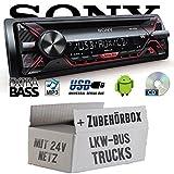 LKW Bus Truck 24V 24 Volt - Sony CDX-G1200U - CD/MP3/USB Autoradio - Einbauset
