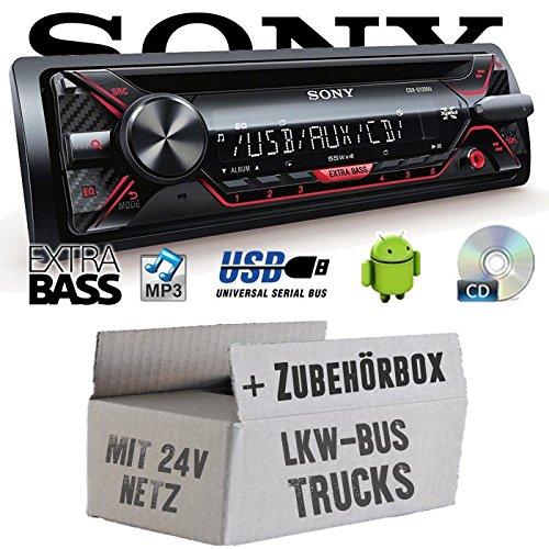 LKW Bus Truck 24V 24 VOLT - Sony CDX-G1200U - CD/MP3/USB Autoradio - Einbauset (Radio Volt 24)