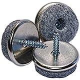 haggiy® Filzgleiter / Parkettgleiter zum Schrauben Ø 24 mm (20 Stück)