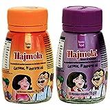 Dabur Hajmola Regular & Imli (Tamarind) Spijsvertering 120 tabletten 66g - (Hajmola - De smakelijke 'Fun-Filled' Digestive) Combo Pack 2 in 1