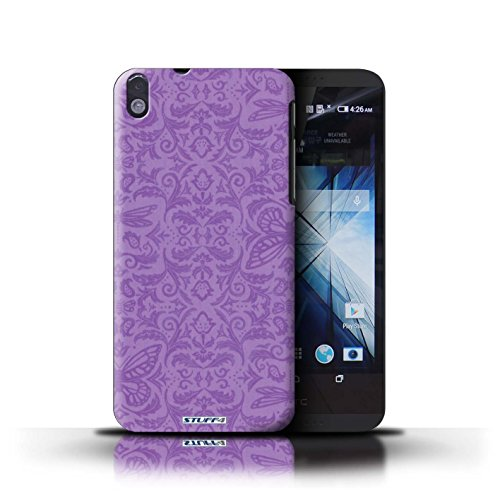 Kobalt® Imprimé Etui / Coque pour HTC Desire 816 / Rouge conception / Série Motif médaillon Pourpre