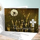 Einladungskarten zur Trauerfeier