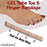 Medipaq - GEL Tube Toe/Finger Bandage - Pain Relief From Blisters, Corns, Calluses and other Ailments Causing Sore Fingers and Toes - 1x Gel Tube 15mm