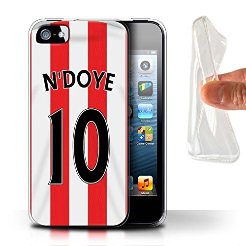 Offiziell Sunderland AFC Hülle / Gel TPU Case für Apple iPhone SE / Kaboul Muster / SAFC Trikot Home 15/16 Kollektion N'Doye