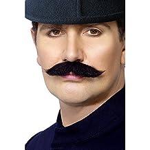 Smiffys 30219 Déguisement Homme Moustache de Policier Londonien, Noir,  Taille Unique 546177175dc3