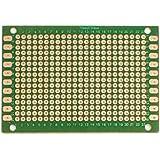 tarjeta de circuitos - SODIAL(R) 2 piezas de una sola cara tabla de placa perforada de circuito impreso de prototipos verde 5 x 7 cm