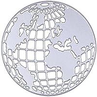 enipate Globe metallo DIY Fustelle Stencil Scrapbook