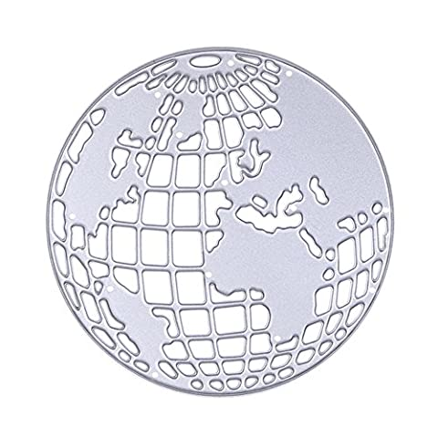 Enipate Globe en métal DIY Coupe Dies Pochoirs Album de scrapbooking en papier carte gaufrage Craft mignon