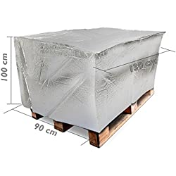 Cablematic - Funda cubierta para palet de tipo burbuja aire PE 130x90x100cm térmico