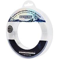 Materiales KastKing DuraBlend monofilamento Línea Líder pesca de agua salada Mono Líder Preminum Big Game Mono Líder 120Yds / 110M gran sustituto de fluorocarbono Material del Líder (Clear, 60 LB (27.2KG))