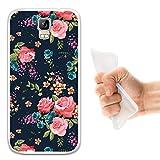 WoowCase Umi Rome Hülle, Handyhülle Silikon für [ Umi Rome ] Vintage Blumen Rosen Handytasche Handy Cover Case Schutzhülle Flexible TPU - Transparent