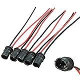 Funnyrunstore T10 / 501 // W5W / 194 Connecteur de support de douille d'extension pour ampoule LED SMD (Noir & rouge)