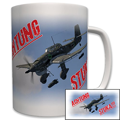 Achtung Stuka Ju 87 Sturzkampfbomber Sturzkampfflugzeug Luftwaffe Flugzeug - Tasse Becher Kaffee #6628