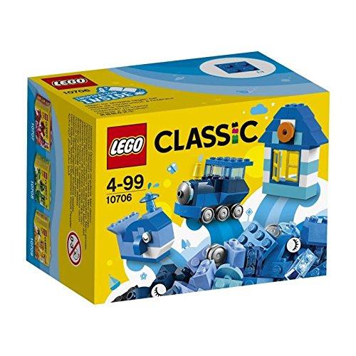 LEGO Classic - Caja Creativa de Color Azul, Juguete Creativo de Construcción (10706)