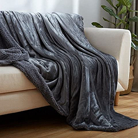 HDWN Doble cara doble cordero gruesa manta s¨®lida color franela hojas de rodilla de manta de sof¨¢ de manta , b ,