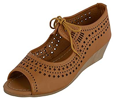 Perfect Choice Women's Beige Synthetic Peeptoes Sandals - 37