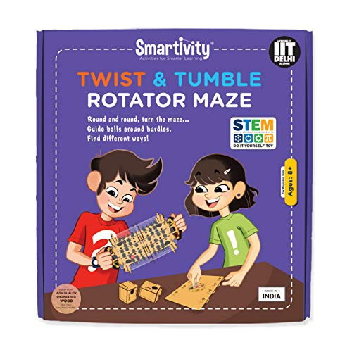 Smartivity Twist and Tumble Rotator Maze Stem, DIY, Educational, Learning, Building and Construction Toy
