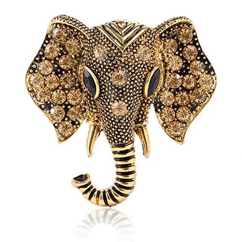 Fliyeong Premium Crystal Elephant Broschen Vintage Brosche Schmuck Geschenke für Frauen