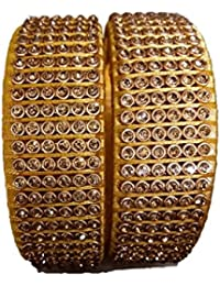 Bajrang Bangles Golden Color Silk Thread Bangle Set For Women