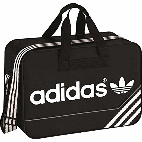adidas Unisex-Erwachsene Boston Bear Bag Umhängetasche, Schwarz/Weiß (Weiße Bag Boston)