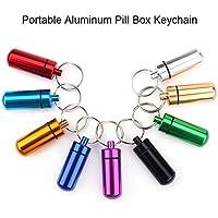 9er Set Mini Pillendosen Aluminium Pillenbox mit Schlüsselbund für Outdoor Sport Camping Wandern Reisen preisvergleich bei billige-tabletten.eu