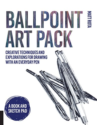 Ballpoint Art Pack: Creative Techniques and Explorations for Drawing with an Everyday Pen - A Book and Sketch Pad por Matt Rota