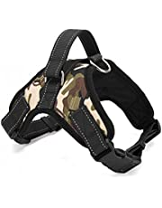PetsUp Dog Harness Adjustable Vest Chest Belts for Labrador and Pug (Large, Army Green)