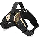 PetsUp Dog Harness Adjustable Vest Chest Belts for Labrador and Pug (Army Green, XL)