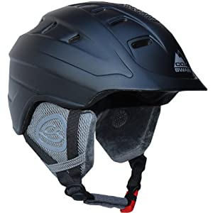 Cox Swain Ski-/Snowboard Helm ROYAL with Recco - mit Recco Lawinenreflektor, Farbe: Black, Größe: L