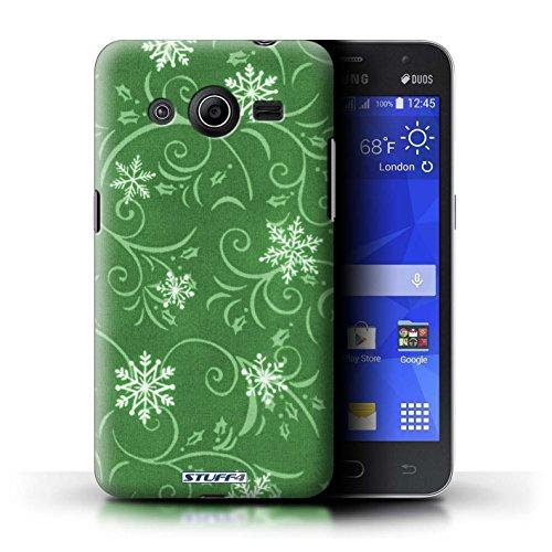 iCHOOSE Print Motif Coque de protection Case / Plastique manchon de telephone Coque pour Apple iPhone 5/5S / Collection Motif flocon de neige / Noir Vert