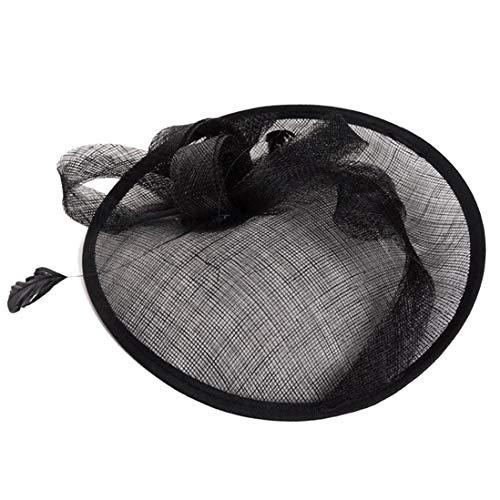 Frauen Pillbox Fascinators Elegante Bettwäsche Mesh Fedoras Top Hat Tea Party Kirche Headwear ❤ (Kleid Halloween-themed Hochzeit)