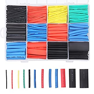 Tubo Termorretráctil 750 Piezas,Preciva 2: 1 Poliolefina Tubo Termoretráctil Envoltura de Alambre 5 Color 12 Tamaño para Protección el cable,Prevenir la corrosión del metal,etc