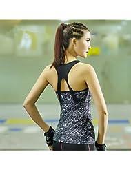 Bazaar Chaleco atractivo mujeres del verano de la aptitud impreso sleevesless apretada running tanque de entrenamiento camiseta
