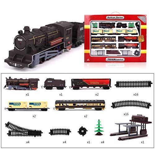ZUJI Circuit Voiture Enfant 1:87 Circuit Voiture Électrique Circuit de Train Locomotive Magique Jeu Educatif Cadeau de Noël pour Enfant