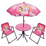 Fun House 712348Disney Princesses salón de jardín para niños con 1Mesa, 2sillas y 1sombrilla