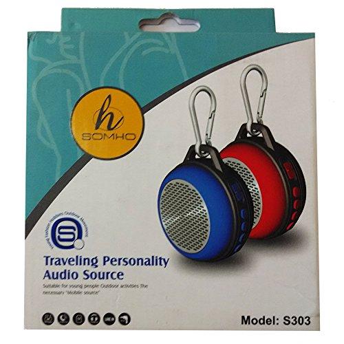 NAVIZONE SOMHO S307 Carabiner Hiking Outdoor Mini Speakers,Wireless Bluetooth Speakers Radio Function TF Card Portable Speaker Amplifier