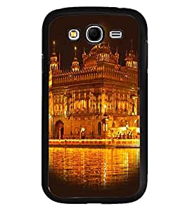 Fuson Premium Shining Golden Temple Metal Printed with Hard Plastic Back Case Cover for Samsung Galaxy Grand Neo Plus GTi9060i
