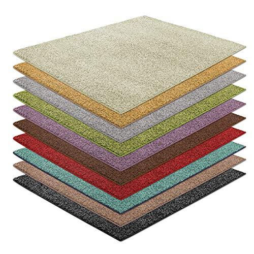 casa pura Shaggy Teppich Bali | weicher Hochflor Teppich für Wohnzimmer, Schlafzimmer und Kinderzimmer | mit GUT-Siegel | Verschiedene Größen | viele Moderne Farben (200 x 200 cm, Creme)